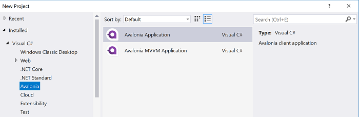 Cross-platform desktop applications with Avalonia and  NET Core